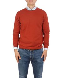 Altea - Men's 196100067 Orange Wool Jumper - Lyst