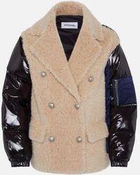 Sylvie Schimmel Bi-material Short Caban Jacket - Multicolour