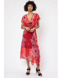 Religion Luscious Print Dress - Red
