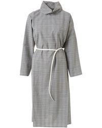 Sofie D'Hoore Devra Check Belted Dress - Grey