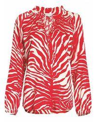 Atterley Dea Kudibal Janni Silk Tunic - Zebra Carmine - Red