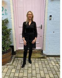 Rosemunde 3/4 Sleeve Lace Dress - Black