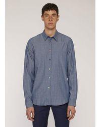 Paul Smith Chambray Denim Shirt - Blue