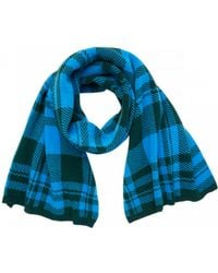 Markus Lupfer - Check Jacquard Scarf Forest Green & Azure - Lyst