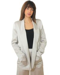 Erika Cavallini Semi Couture Long Jacket Aldo Tortora - Multicolour