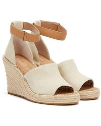 Lacoste Toms Marisol Cream Wedges - Natural