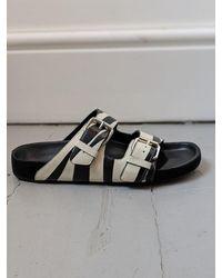 Étoile Isabel Marant Lennyo Monochrome Leather Sandals - Multicolour
