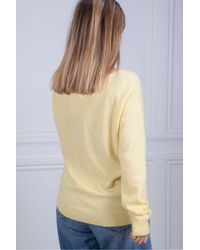 Repeat Cashmere Laced Front Knit In Sunshine - Multicolor