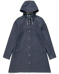Stutterheim Mosebacke Navy Raincoat By - Blue