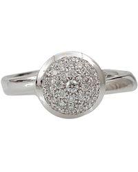 Tamara Comolli Cognac Diamond Pave Small Bouton Ring - Metallic