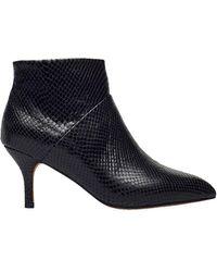 Shoe The Bear Valentine Zip Reptile Boots , - Black