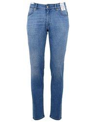 PT01 Men's Dj05z10gtlku09lt37 Blue Cotton Jeans