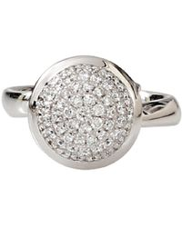 Tamara Comolli Large Diamond Pave Bouton Ring - Metallic