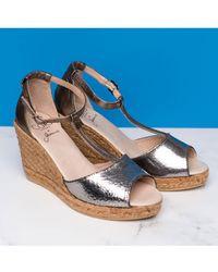 Cara - Gota Wedge Sandals - Lyst