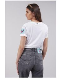 Replay Flower Patch Tee Colour: White