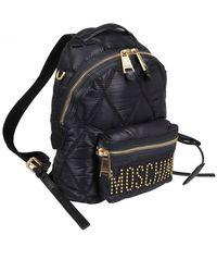 Moschino Medium Backpack Matelasse - Black