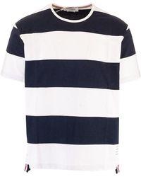 Thom Browne Men's Mjs119a02212415 Blue Cotton T-shirt