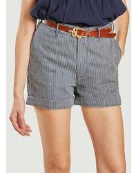 Bellerose Striped Shorts Stripe B - Brown