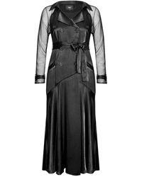 NÜ Esa Dress With Mesh Sleeves - Black
