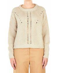 Ballantyne Women's R1p4583v00010144 Beige Sweater - Brown