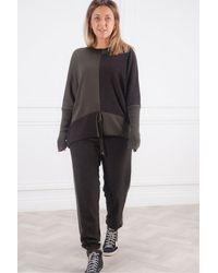 Crea Concept Two Tone Knit - Black