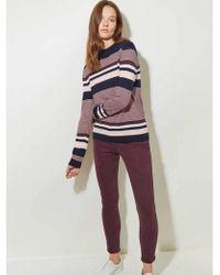 Great Plains - Multi Stripe Knit In Blush - Lyst