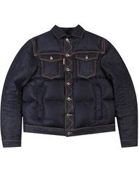 DSquared² Denim Puffer Jacket - Blue