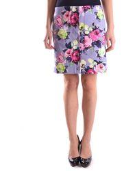 Carven Cotton Skirt - Purple