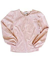Paul Smith Leaf Print Cotton Top W2r-256m-e30657 - Pink