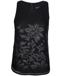 Armani - Armani Jeans Womens Mesh Top Black - Lyst