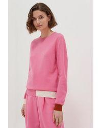 Chinti & Parker Chinti & Parker Pink Cambridge Sweater