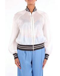 Eleventy Women's 980se0102white White Cotton Jacket