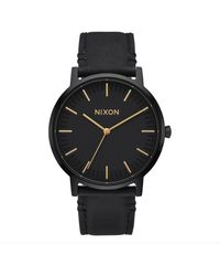 Nixon Porter Leather - All / Gold - Black