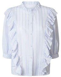 Lolly's Laundry Lollys Laundry - Hanni Stripe Shirt Light - Blue
