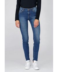 Dr. Denim - Regina Organic Mid Blue Jeans - Lyst