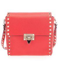Valentino Garavani - Women's Tw2b0f94vsfju5 Red Leather Shoulder Bag - Lyst