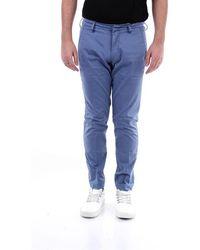Michael Coal Men's Mcbrad2400cindaco Blue Cotton Trousers