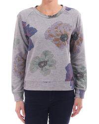 Paul by Paul Smith Paul Smith Paul Floral Crew Neck Sweatshirt - Gray