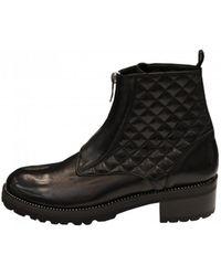 Lorenzo Masiero Women's W193552 Biker Ankle Boots - Black