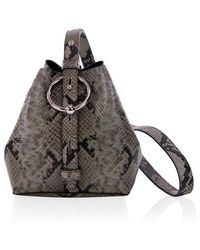 Rebecca Minkoff Mini Kate Bucket Bag Thyme Python - Green