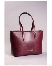 Valentino By Mario Valentino Kensington Tote Bag Colour: Wine - Red