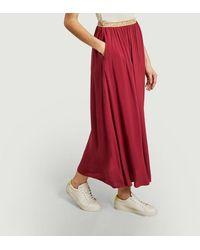Hartford July Juillet Skirt Pomegranate - Red