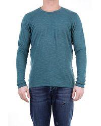 Retois Oil Green Linen Blend Sweater - Blue