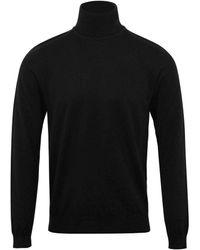 HUGO San Thomas Knitted Roll Neck Black