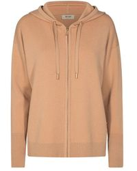 Mos Mosh Robyn Hooded Knitted Cardigan - Brown