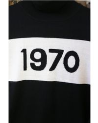 Bella Freud 1970 Black & Ivory Polo Jumper