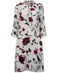 Dorothee Schumacher 747003 Floral Abstraction Red Dress - Multicolour