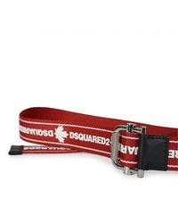 DSquared² Dsqua2 Logo Tape Tech Webbing Belt - Red