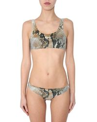 MSGM Printed Bikini - Green