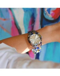 Nixon Watercolour Acetate Time Teller Watch - Multicolour